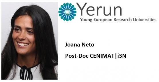 Dr.ª Joana Neto ganha bolsa do programa YERUN Research Mobility Awards
